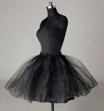 Sunvary Nylon A-line Half 3 Tier Short Black Slip Wedding Petticoats