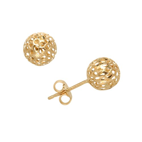 Duragold 14k Yellow Gold Pierced Ball Stud Earrings
