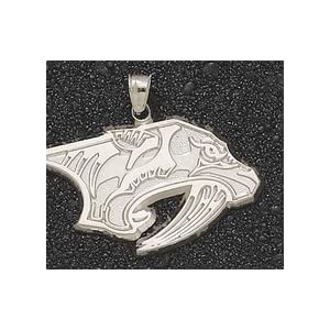 Nashville Predators Giant 1 7/8 W x 1 1/8 H Cat Head Logo Pendant - 14KT Gold Jewelry