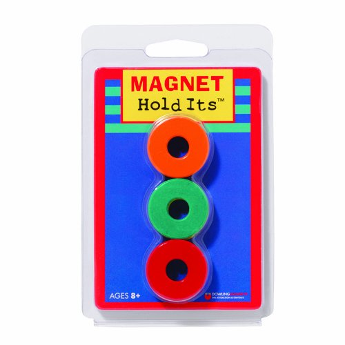 Six 1 1/8 Ceramic Ring Magnets - 1