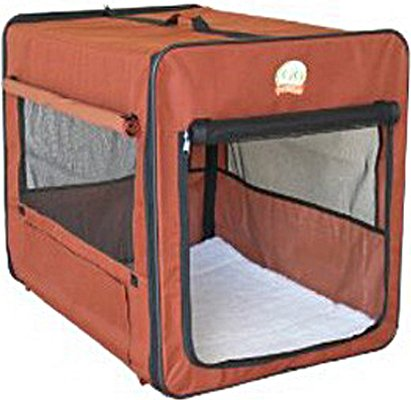 Go Pet Club Soft Crate For Pets, 25-Inch, Brown