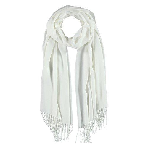 Sciarpa Viscosa Passigatti sciarpa a frange sciarpa estiva Taglia unica - bianco