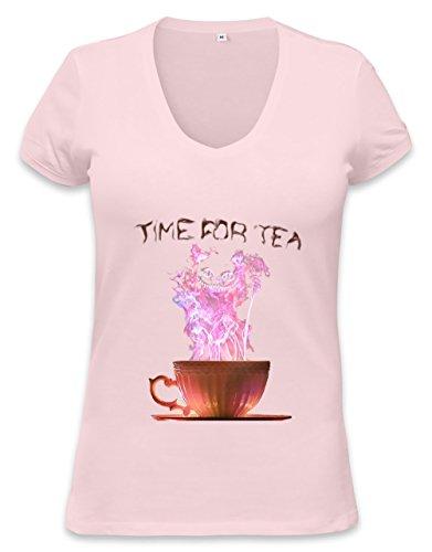 Time For Tea Womens V-Neck T-Shirt Xx-Large