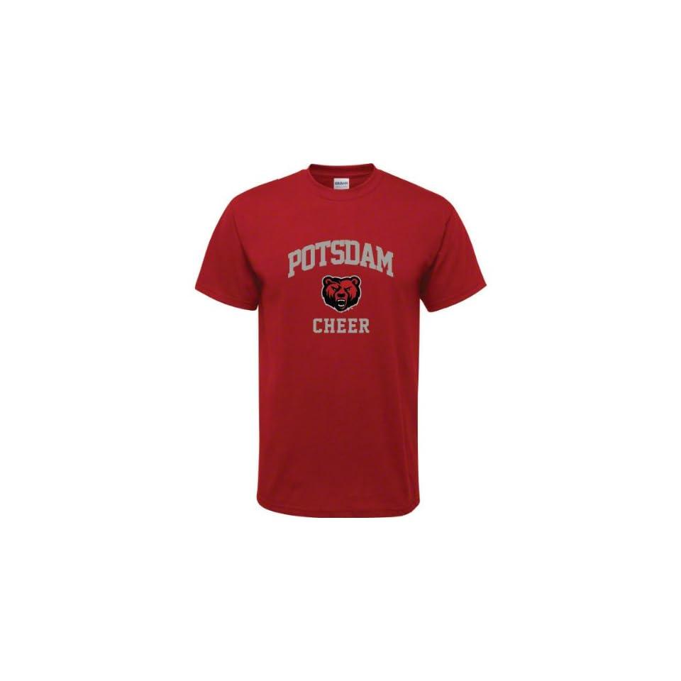 SUNY Potsdam Bears Cardinal Red Youth Cheer Arch T Shirt