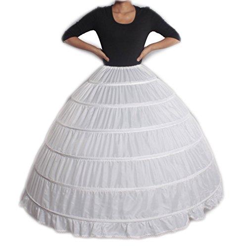 XYX-Enaguas-enagua-de-la-boda-accesorios-de-la-boda-Enaguas-Falda-paseo-vestido-de-novia-de-crinolina-enagua-prom-deslizamiento-6-aro-de-novia