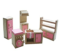 Cute Kids Wooden Play House Toys Assembling Kicthen Furniture Toys