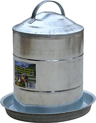 Farm Tuff 3 Gallon Double Wall Cone Top Galvanized Poultry Fountain