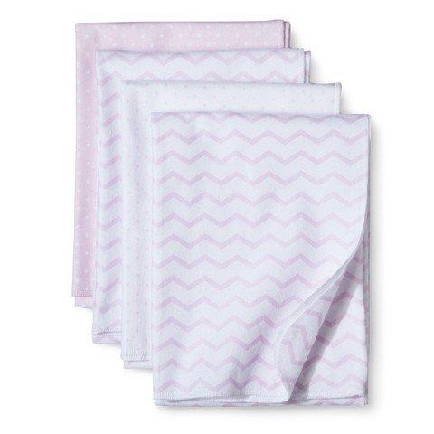 Circo 4pk Receiving Blanket- Chev & Dot