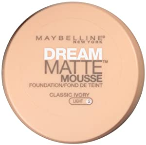Maybelline York Dream Matte Mousse Foundation, Classic Ivory, 0.64 Ounce