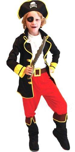 cosclub 海賊 コスチューム 子供服 ハロウィン/衣装/仮装/パーティーグッズ 【ビーム付】 pirate-child (M 110cm-120cm)