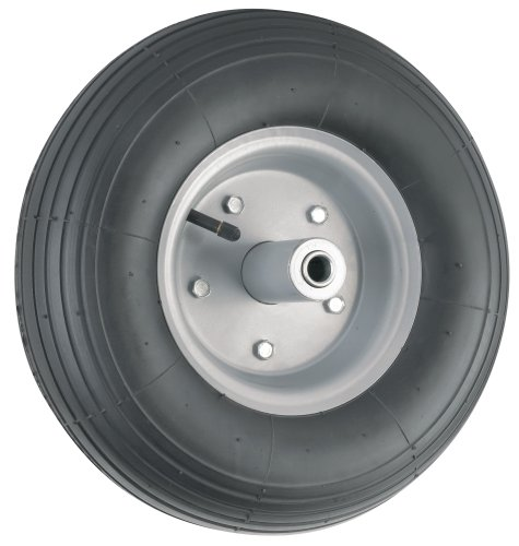 Waxman 4382555 13 Inch Pneumatic Wheelbarrow Wheel, Black Tire And Grey Rim front-412334