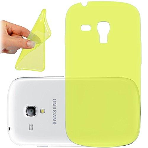 OneFlow PREMIUM - AERO-CASE aus transparentem Silikon (Ultra Slim) - für Samsung Galaxy Trend / Trend Plus (GT-S7560 / GT-S7580)) - GELB