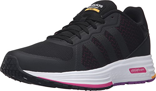 Adidas Women's Cloudfoam Flyer Black/Shock Pink Sneaker 5 B (M)