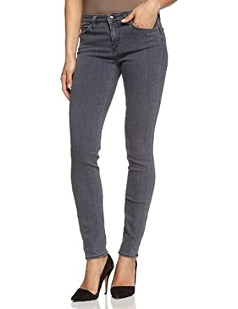 Lee - scarlett - jeans - skinny - femme - gris (pitch grey jygv) (pitch grey) - w25/l31