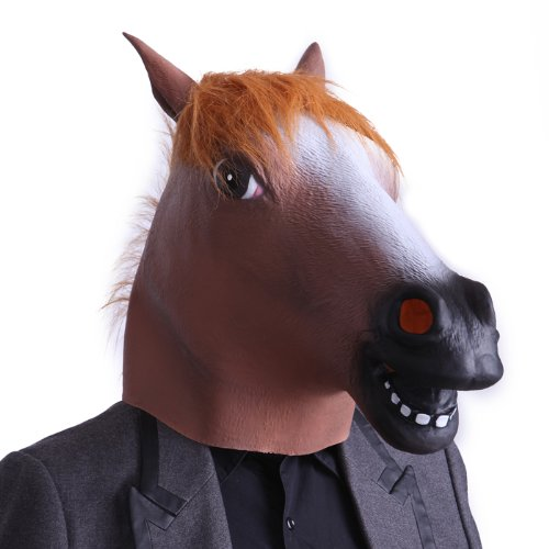 HDE Creepy Rubber Latex Animal Face Head Halloween Costume Party Mask