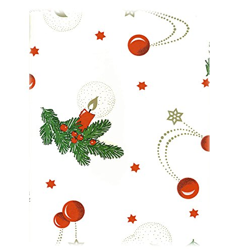 JEMIDI-Wachstuchtischdecke-Tischdecke-Wachstuch-Tischdecken-Decke-Tisch-Wachs-Weihnachten-Weihnachtlich-Wachsdecke-140cm-x-190cm-Wei-Kerze