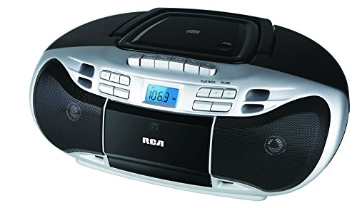Rca Rcd378D Cd Boombox With Cassette And Am/Fm Radio, Black