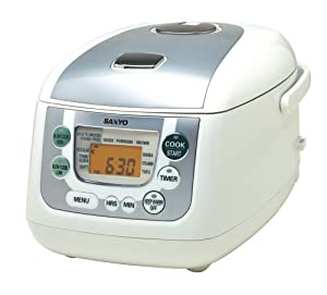 Sanyo ECJ-HC55S 5-1/2-Cup (Uncooked) Micro-Computerized Rice Cooker and Slow Cooker, White