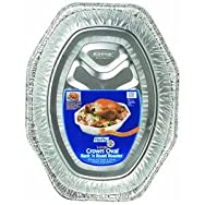Pactiv/E Z Foil 1918 Crown Oval Roaster Pan Pack of 12