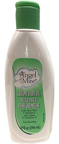 Creamy Baby Oil with Aloe Vera & Vitamin E - 10 oz,(Angel of Mine) - 1