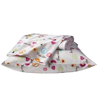 """Twin Peace Sign Sheets """"Peace & Love"""" front-989624"""