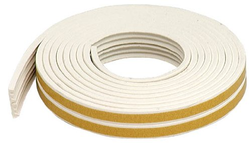 M-D Building Products 2618 All Climate EPDM Rubber Weatherseal for Gaps 1/16-Inch to 1/8-Inch, White (Round Rubber Weatherstrip compare prices)