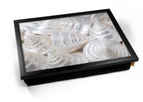 Sea Cone Shell Cushion Lap Tray