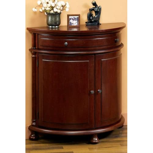 "Half-moon Console Cabinet 34""h Cheshire Black - Free Standing Cabinets"