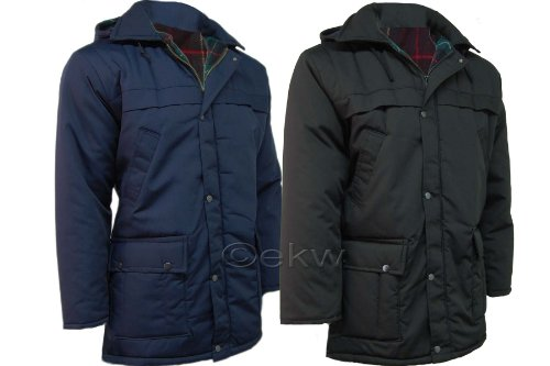Mens Classic Padded Parka Car Coat Jacket
