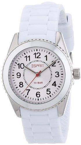 Esprit ES106424003 - Reloj analógico de cuarzo unisex con correa de resina, color blanco