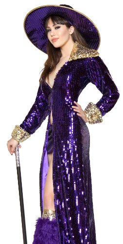Roma Sexy Womens Purple Pimp Madame Halloween Costume