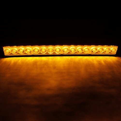 16-Led Amber Caution Security Van Strobe Emergency Lights Lamp Led Flasher #75A