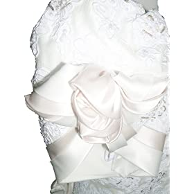 New Ivory Satin with Champagne Trim by Mon Cheri Wedding Dress Bridal Gown, Size 12-14, FL33