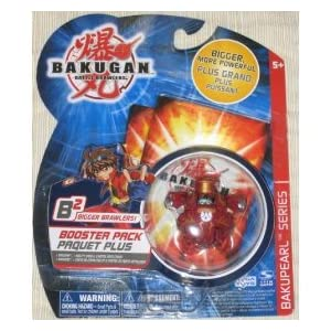 Bakugan Battle Brawlers Booster Pack B2 BAKUPEARL Series Red Warius [Toy]