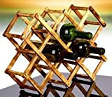 Solid Wood Folding Wine Racks,Foldable Wine Stand Wooden Wine Holder(10 Carbide)