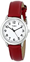 Timex Womens T2N952 Elevated Classics Dress Red Leather