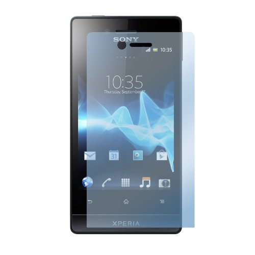 deinPhone Sony Xperia Miro ST23i 1x Folie Displayschutz CLEAR Durchsichtig