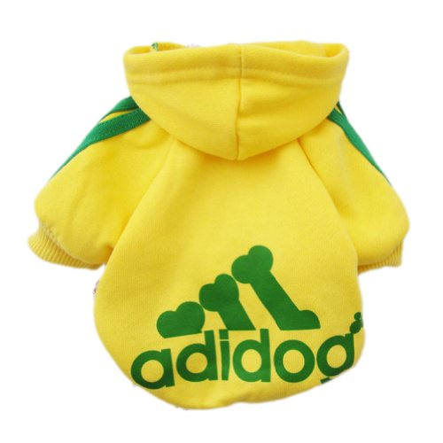 Zehui Pet Dog Cat Sweater Puppy T Shirt Warm Hoodies Coat Clothes Apparel Yellow L