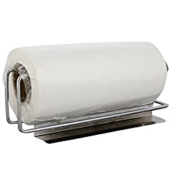 Eoan Kitchen Napkin Roll Holder Under Self - 28.5 cms x 13 cms x 10.5 cms, Silver Chrome