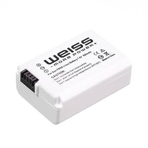 Weiss - NP-FW50 - Batterie pour appareils photo Sony Alpha 33/a33/a33/a55/a55V/NEX-3/NEX 5 - 950 mAh (Import Allemagne)