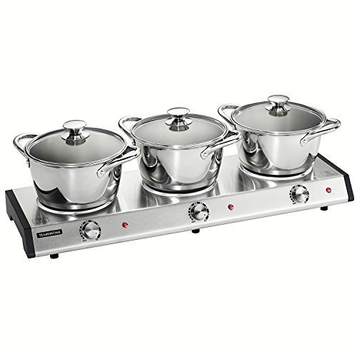 Tramontina 7-Piece Triple-Hob Electric Buffet Warmer (Variable Temperature Slow Cooker compare prices)
