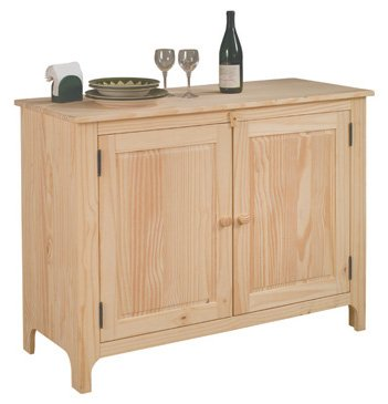 Solid Wood Sideboard - Unfinished FREE SHIPPING!