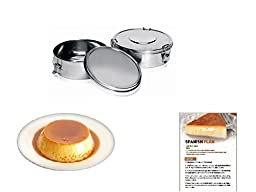 Flanera Flan Maker 1.4-quart Stainless Steel Recipes Included (2 Pack)