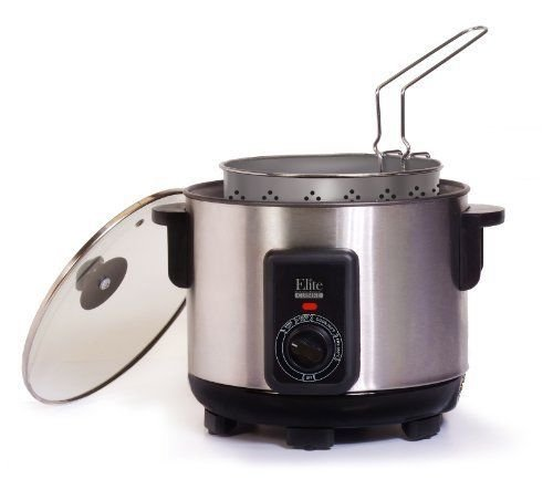 Multi Cooker 5-Quart Silver Fryer Deep Electric Basket Kitchen Fry Food