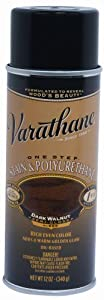 Rust-Oleum 243870 Varathane Stain and Polyurethane Spray, Dark Walnut