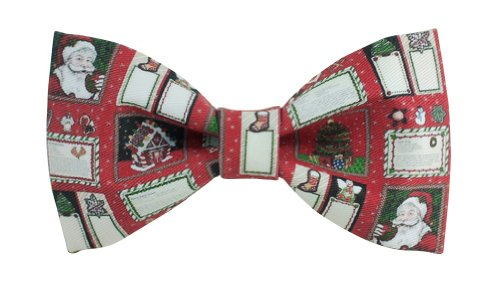 L-J Men's Merry Christmas Party Prom Costume Bowties with Gift Box