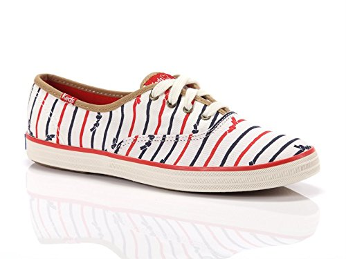 Keds, Donna, Taylor Swift Champion Bow Stripe, Canvas, Sneakers, Bianco, 39 EU