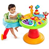 Baby Walker And Baby Toys-Bright Starts Zippity Zoo 3-in-1 Around We Go-Activity Station-Will Keep Your Baby Entertained And Challenged To The Toddler Years * It Has 15+ Activities That Include: Electronic Toy Station With Volume Control And 3 Modes Of Play: Melodies, Animals Sounds And Piano Notes, Plus A Flip Book With Colorful Characters And Sounds, Popping penguins, Spinning Ball Beads, An Elephant Popper With Spinning Beads, A Teethable Palm Tree And Lots More-Parents Have Loved This Award-Winning Toy-It's Like A Walker And Entertainer In One-Guaranteed!