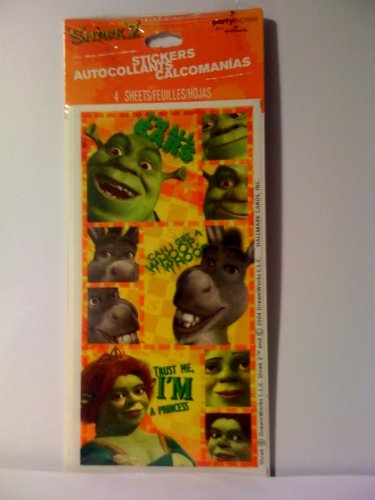 Hallmark PartyExpress Shrek2 Stickers Party Favors (4 sheets) - 1