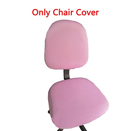 Loghot Chair Covers Spandex Universal Computer Office Desk Stretch Rotating Pure Color Chair Cover (Pink)
